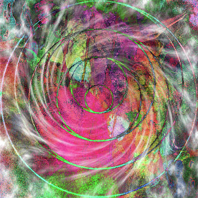 Digital Art - Angel Healing Vortex by Dorothy Berry-Lound