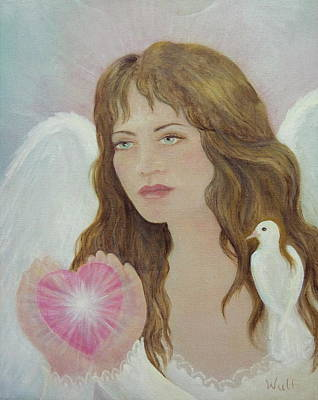 Painting - Angel Heart by Bernadette Wulf