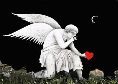 Photograph - Angel Heart by Munir Alawi