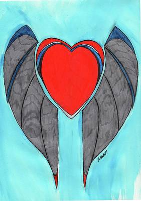 Angel Heart Print by Ronald Woods