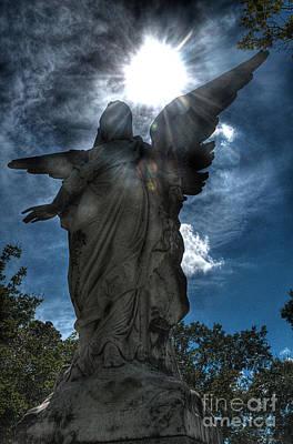 Graveyard Photograph - Angel by Hilton Barlow