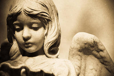 Digital Charlotte Nc Photograph - Angel Holding Clam Shell by Diane Payne