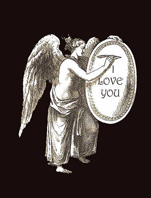 Mixed Media - Angel I Love You by Eric Kempson