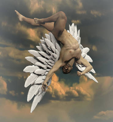 Muscular Digital Art - Angel Icarus by Joaquin Abella