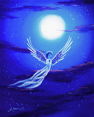 Angel In Blue Starlight Original by Laura Iverson