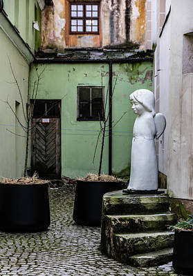 Angel In Courtyard Art Print