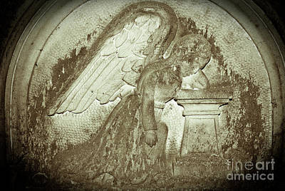Print featuring the relief Angel In Grief by Yurix Sardinelly