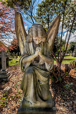 Tombstone Digital Art - Angel In Prayer by Adrian Evans