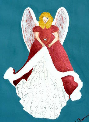 Painting - Angel In Red by Cathy Jourdan