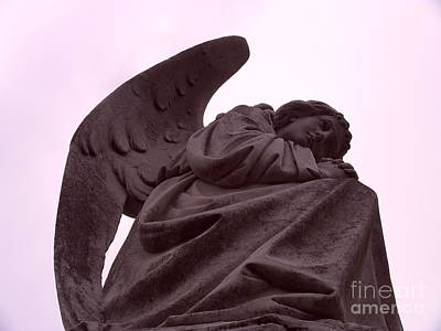 Art Print featuring the photograph Angel In Repose by Cynthia Marcopulos