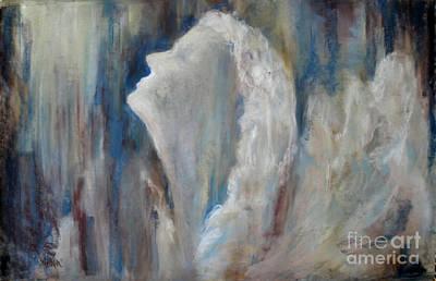 Angel In Soft Pastel Art Print by Cathy Weaver