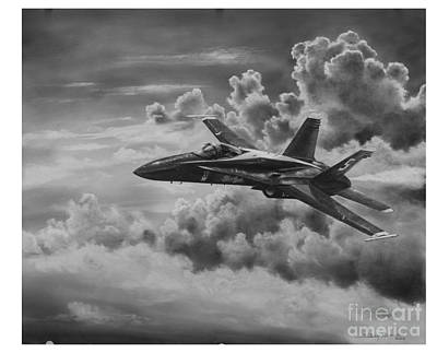 Cockpit Drawing - Angel In The Clouds by Bobby Goldsmith