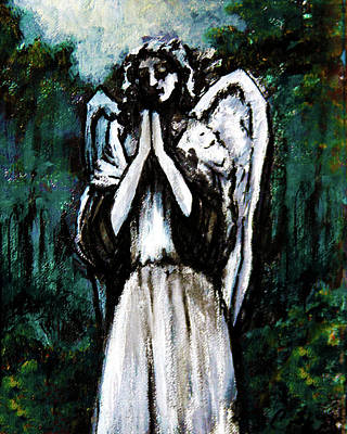 Painting - Angel In The Garden by Frank Botello