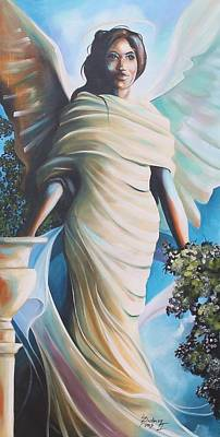 Painting - Angel In The Garden by Henry Blackmon