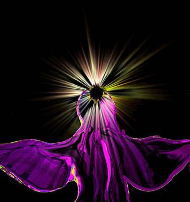 Innocent Angels Digital Art - Angel In The Night by Abstract Angel Artist Stephen K