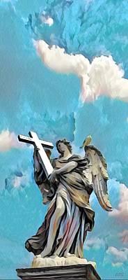 Digital Art - Angel In The Sky by Carrie OBrien Sibley