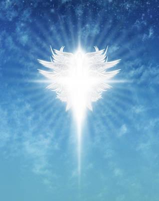 Digital Art - Angel In The Sky by James Larkin
