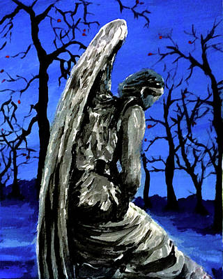 Painting - Angel In Winter by Frank Botello