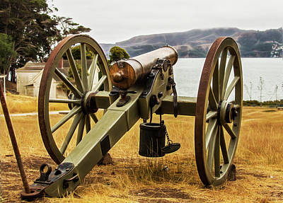Photograph - Angel Island Cannon by Wes Jimerson