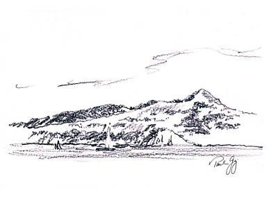 Sausalito Painting - Angel Island From Sausalito by Paul Gaj