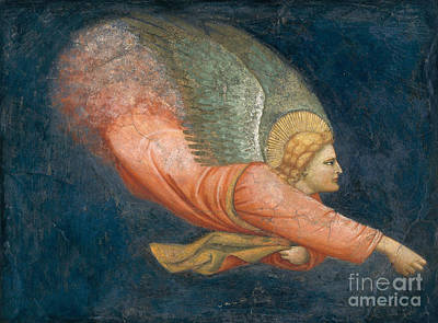 Soaring Painting - Angel by Italian School