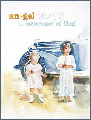 Angel Art Print by Janice Crow
