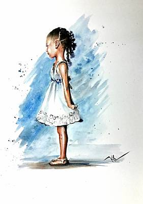 Painting - Angel by Katerina Kovatcheva