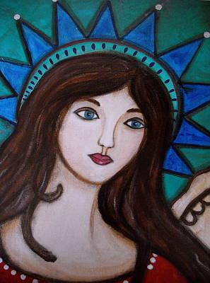 Painting - Angel Kim by Pristine Cartera Turkus