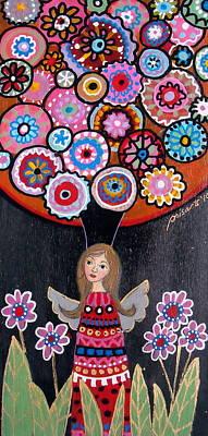 Painting - Angel Kimberly by Pristine Cartera Turkus