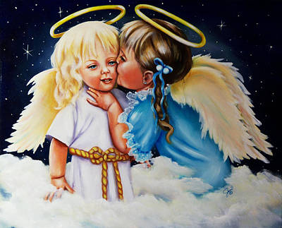 Angel Kiss Art Print