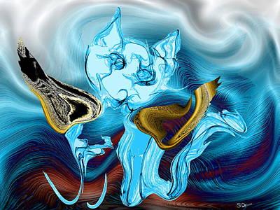 Dream Digital Art - Angel Kitty by Abstract Angel Artist Stephen K