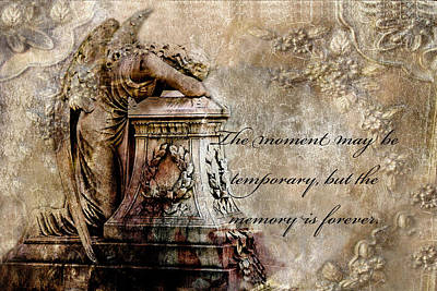 Angel Art By Kathy Fornal Photograph - Angel Laying On Coffin Inspirational Angel Art by Kathy Fornal