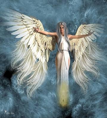 Digital Art - Angel Lights The Way by Ali Oppy
