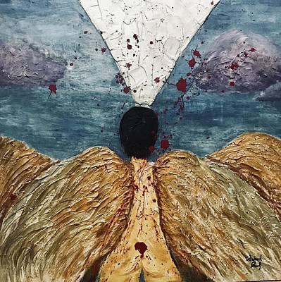 Angel Losing Its Wings - Fallen 01 Original by Edward Paul