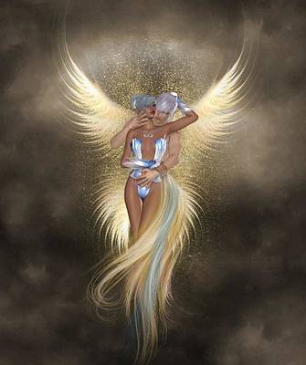 Digital Art - Angel Love by Ali Oppy