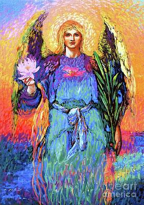 Healing Art Painting - Angel Love by Jane Small