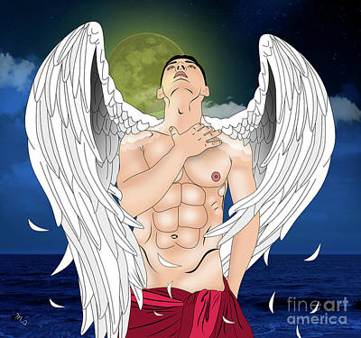Exposed Digital Art - Angel Love  by Mark Ashkenazi