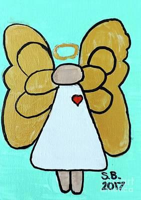 Painting - Angel Love by Sean Brushingham