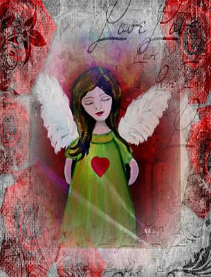 Painting - Angel Love by Vesna Martinjak