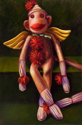 Painting - Angel Made Of Sockies by Shannon Grissom