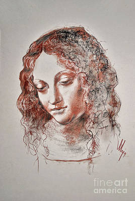 Drawing - Angel Madonna by Maja Sokolowska