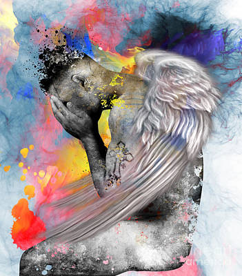 Artistic Digital Art - Angel  by Mark Ashkenazi
