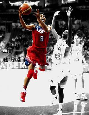 Angel Mccoughtry Art Print by Brian Reaves