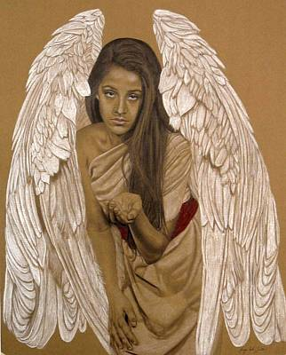 Inviting Drawing - Angel Messenger by Margie Resto