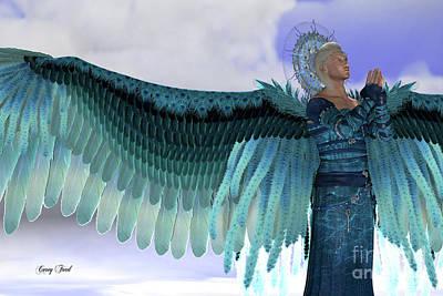 Supernatural Digital Art - Angel Michael by Corey Ford