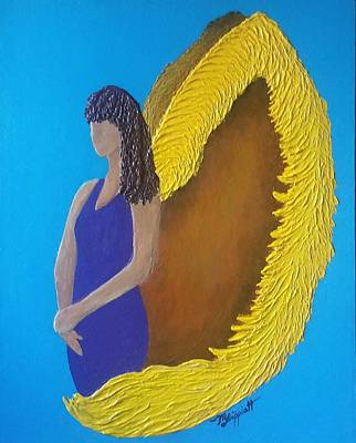 Painting - Angel by Minnie Lippiatt