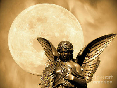 Angel Moon Art Print