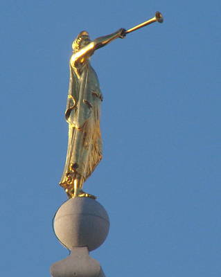 Angel Moroni Statue Print by Wayne Whitney