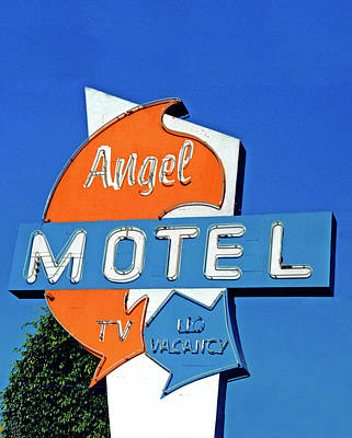 Print featuring the photograph Angel Motel by Matthew Bamberg