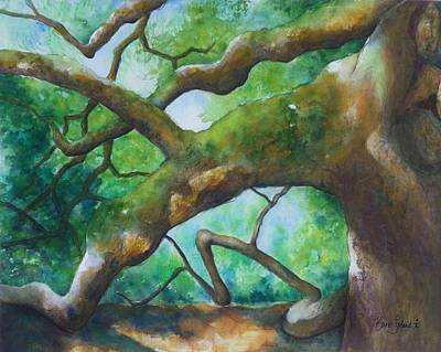 Painting - Angel Oak Take 2 by Barb Toland